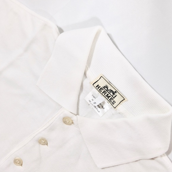 b548791b Hermes Shirts | Sale Men White Polo Shirt H Logo | Poshmark